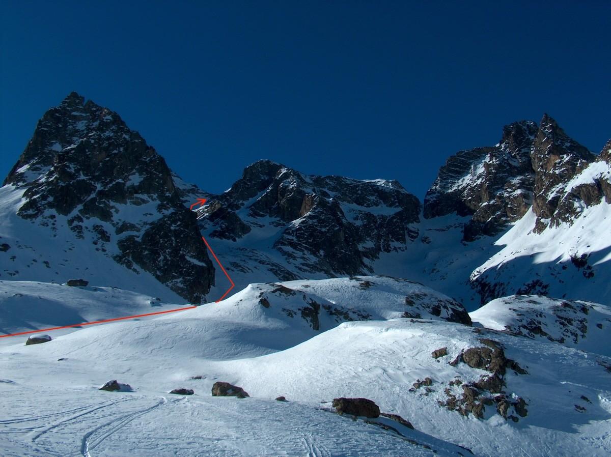 Pic d'Arsine-Col des Agneaux-Pic du Dragon-Brèche Gaspard-Pic de Chamoissière.