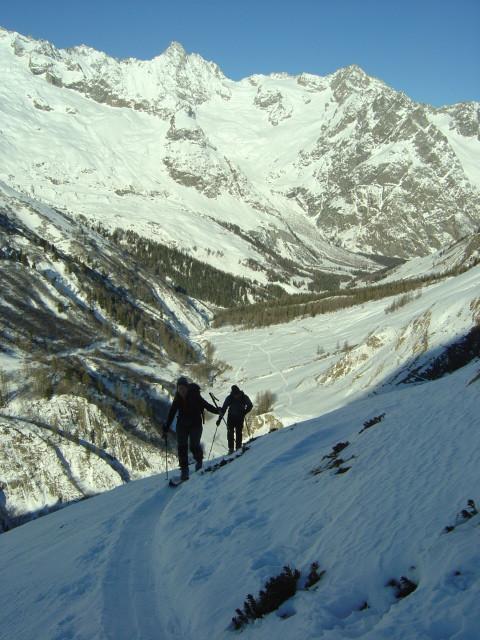 Dans les pentes de l'Arpalle au Val Ferret