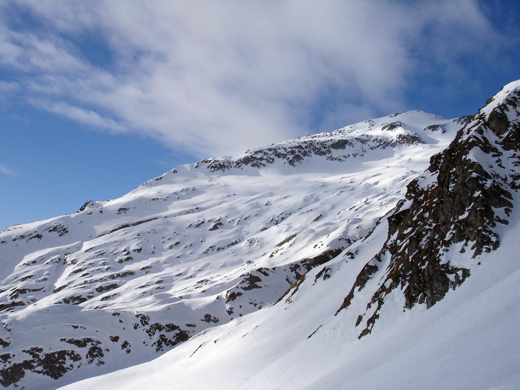 La Cima di Camadra 3172 m versante Est Nord Est.