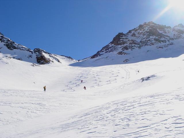 discesa dal monte Rinalpi