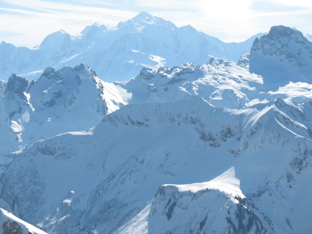Le Mont Blanc du sommet de la Pointe du Midi