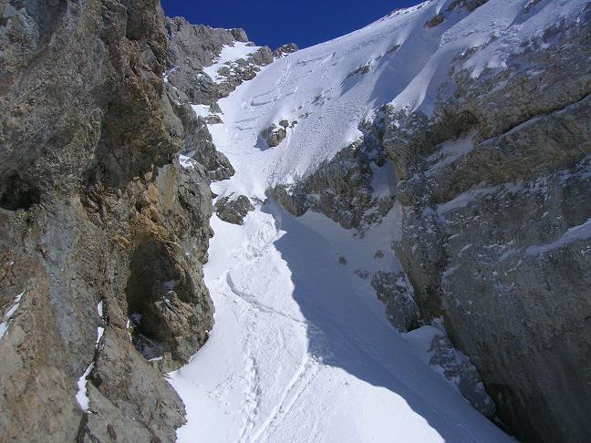 """Le """"passage en mixte"""" qui mène au sommet du Paré de Joux"""