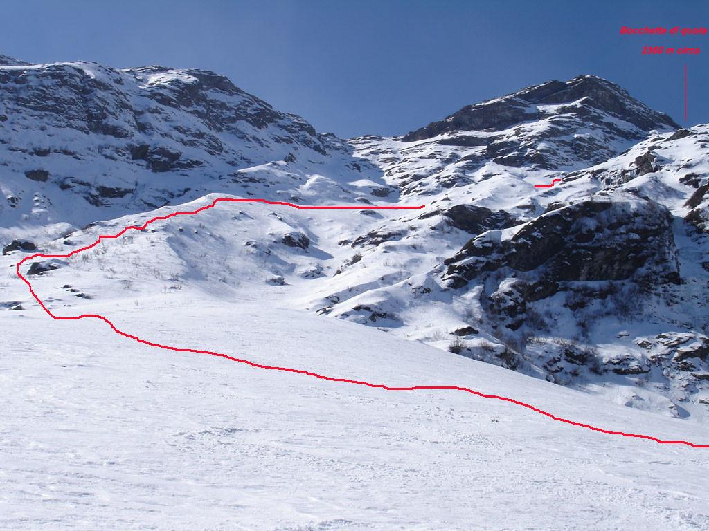 Parte dell'itinerario di salita al Monte Legnone, compreso fra i 1700 m e i 2100 m circa