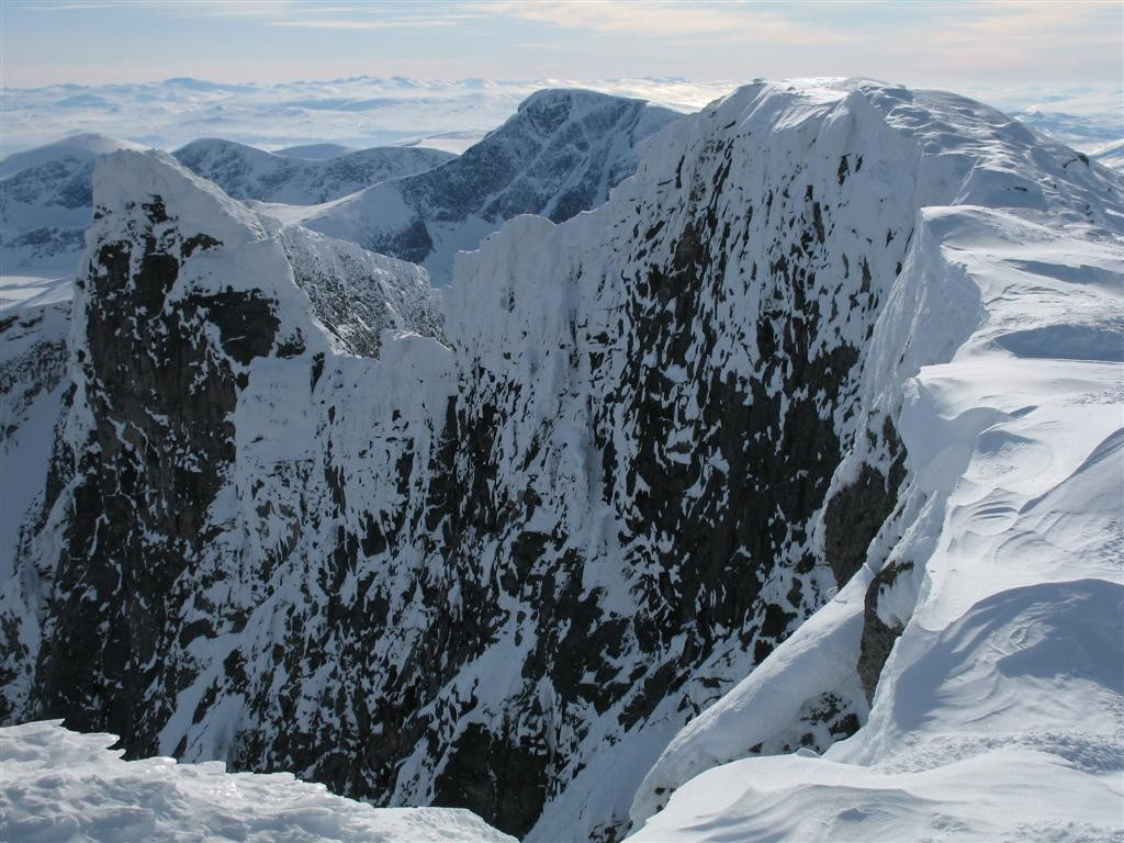 panorama du sommet du snohitta