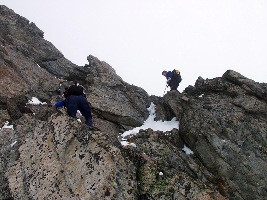 Passaggio chiave della cresta SW del Bachenstoch