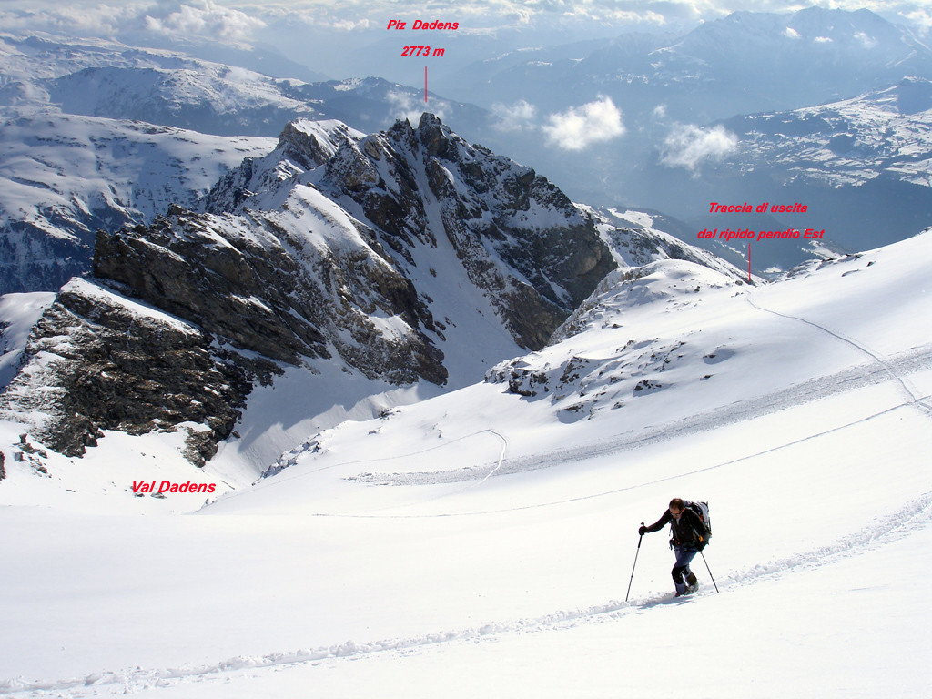 Sul ghiacciaio del Piz Tumpiv 3101 m.