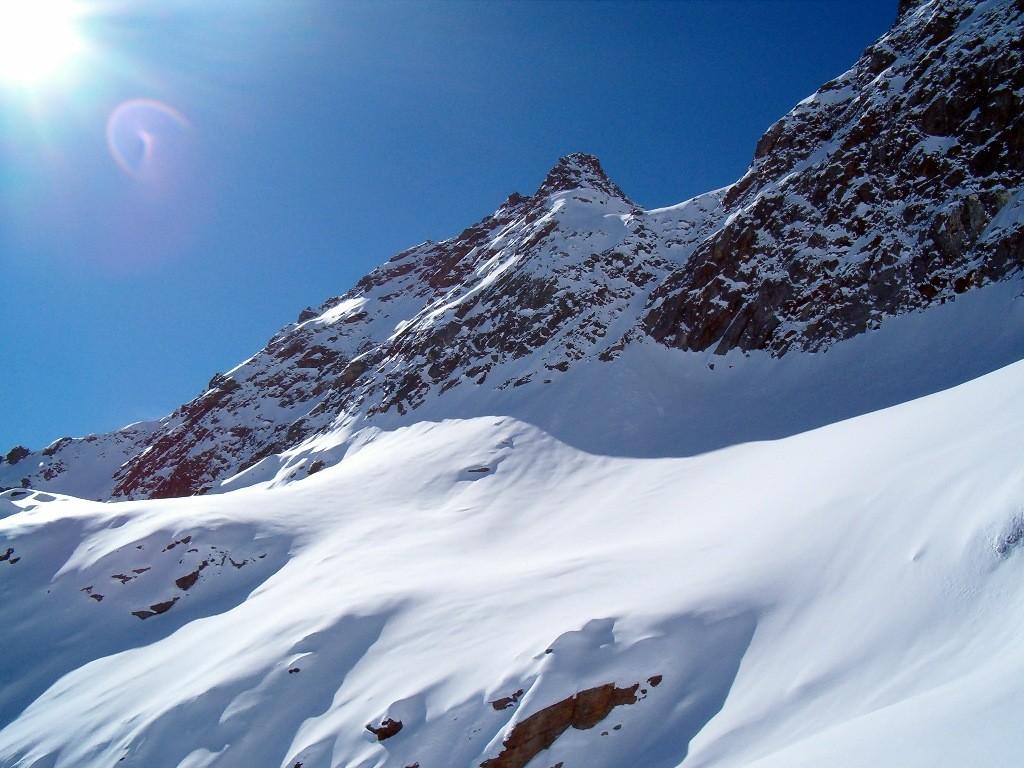 Sul ghiacciaio Piccolo di Croslina verso il II canale