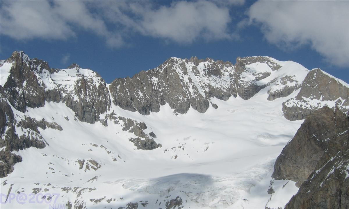 Glacier de la Selle : du col de la Girose à la Brèche du Râteau