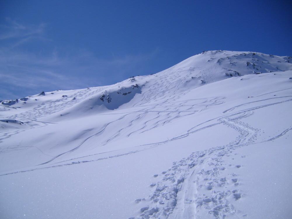 talligrat, gli ultimi 200 metri sotto la cima