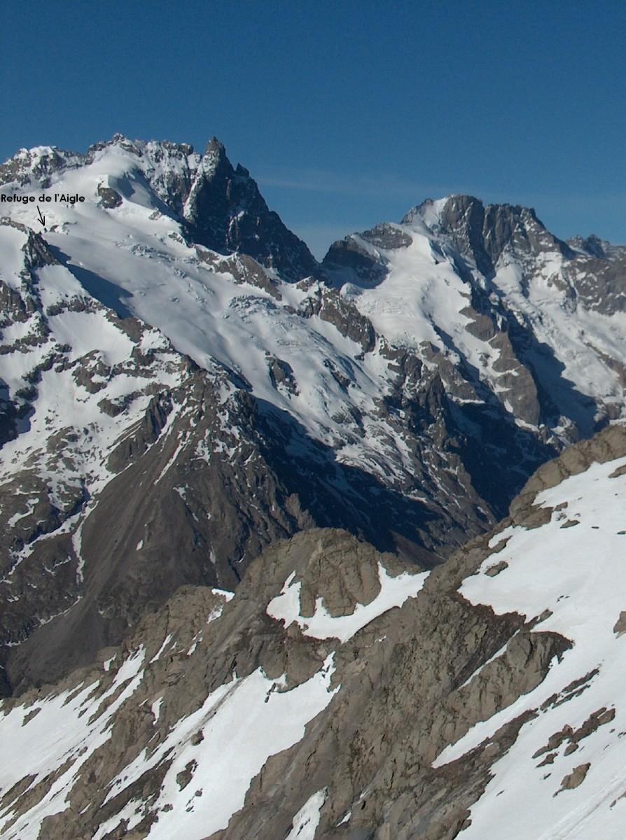 Meije, Glacier du Tabuchet, Râteau.
