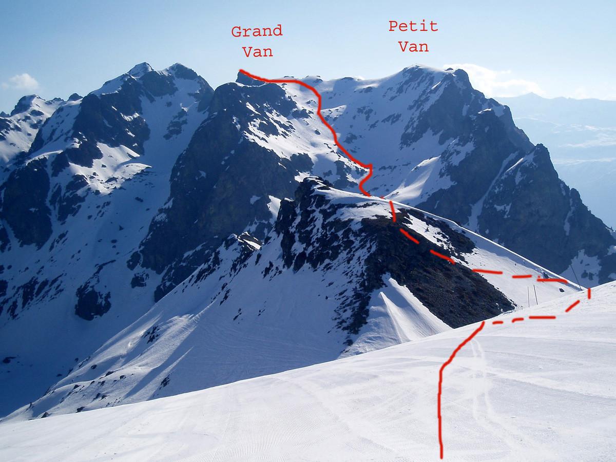 Vue générale des Vans depuis la croix de Chamrousse