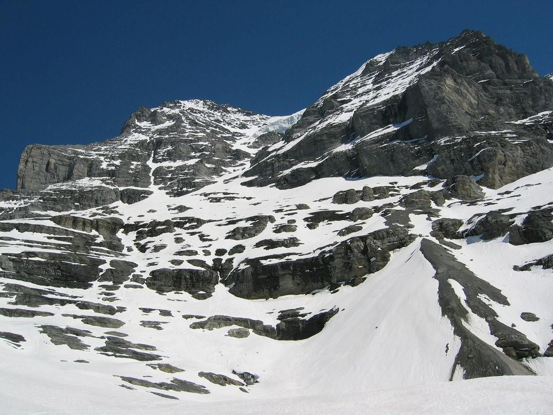 La face W vue de la station Eigergletscher