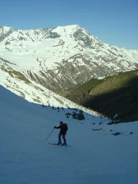 Peu avant le glacier dans le vallon d'Arpitetta
