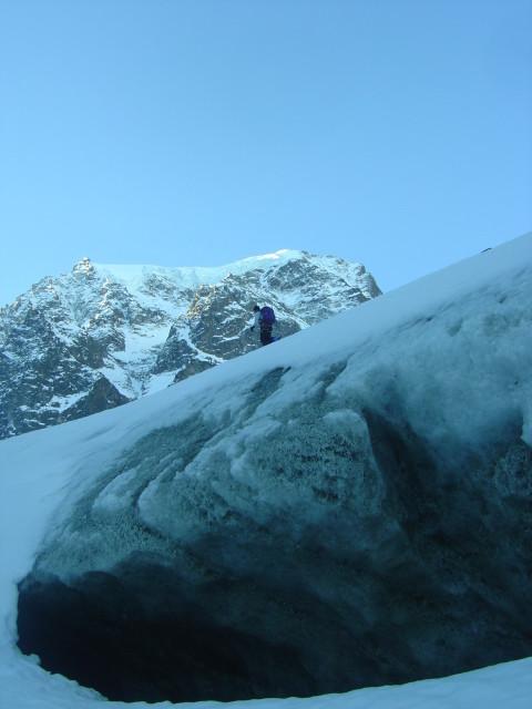 Au départ sur Bas Glacier d'Arolla