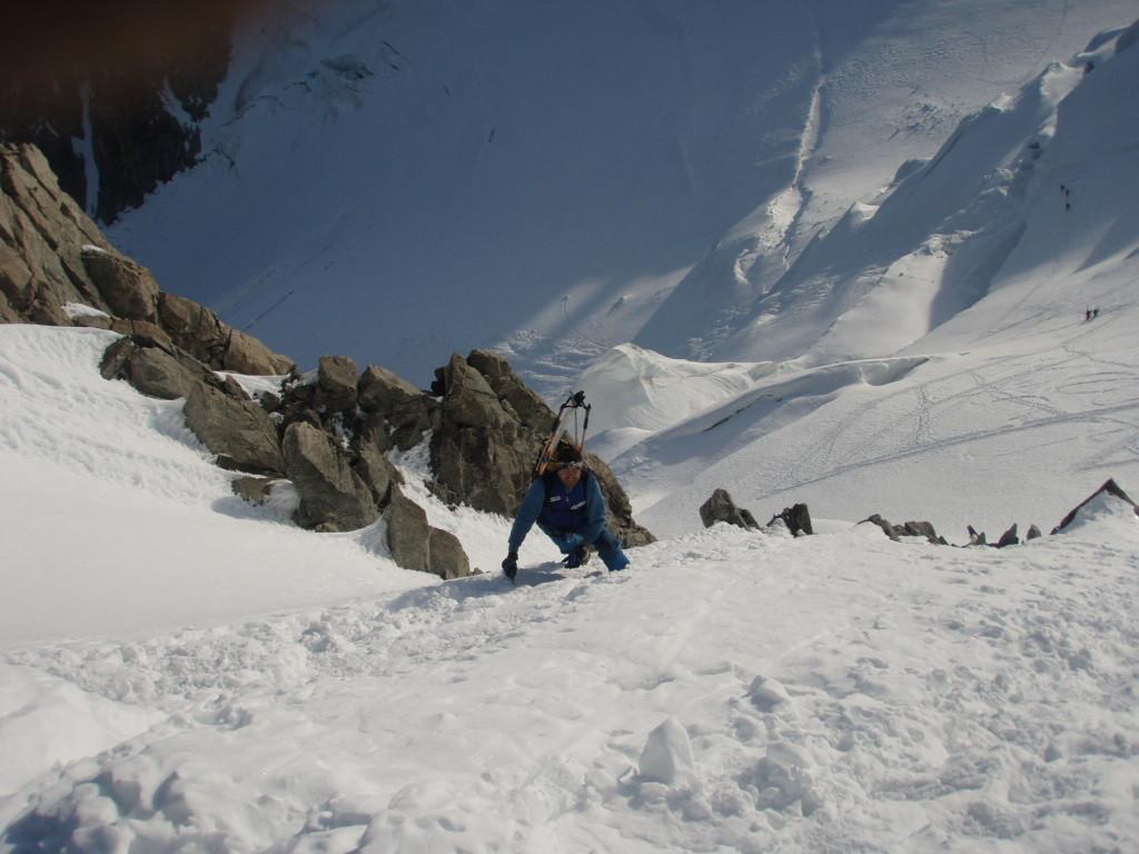 Serge dans la sortie au Col du Mont Maudit - 4345m
