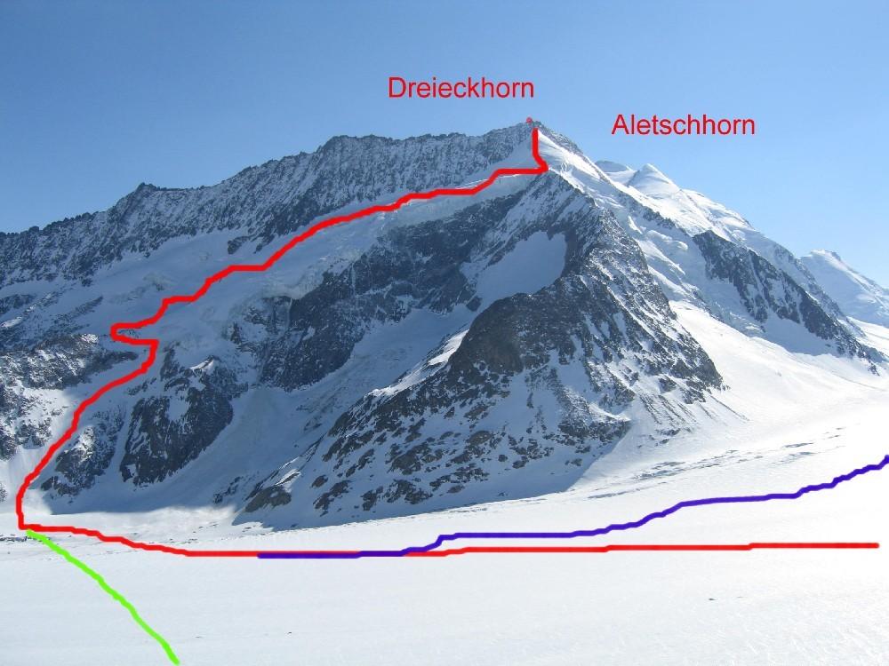 La salita al Dreieckhorn
