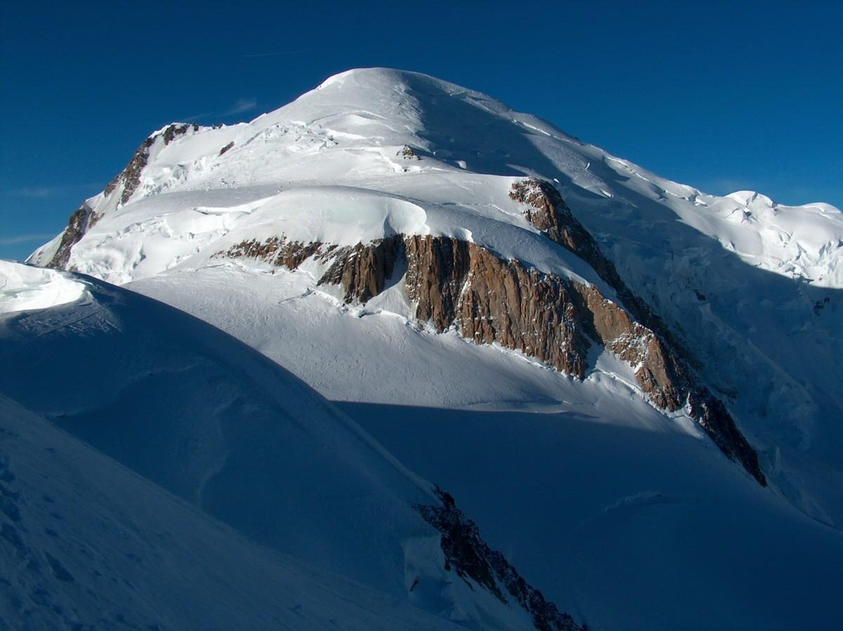 Le Mont Blanc depuis le Col du Mont Maudit.
