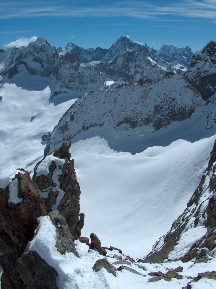 Du Col du Vallon de Lanchâtra vers l'E.
