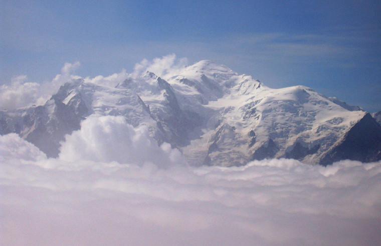Buet - La massif du Mont Blanc vu du sommet du Buet