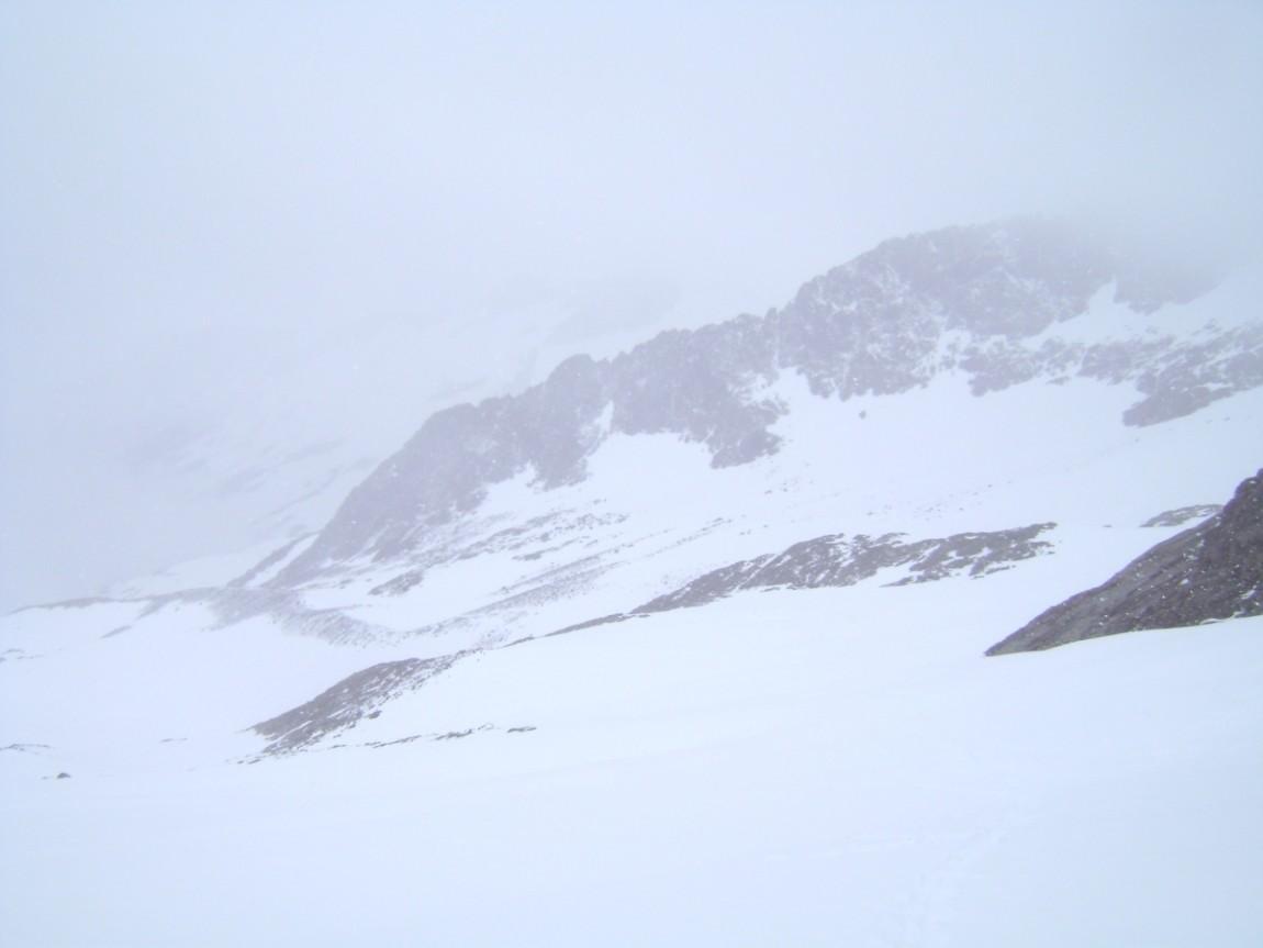 à la montée de l'aiguilles des glaciers