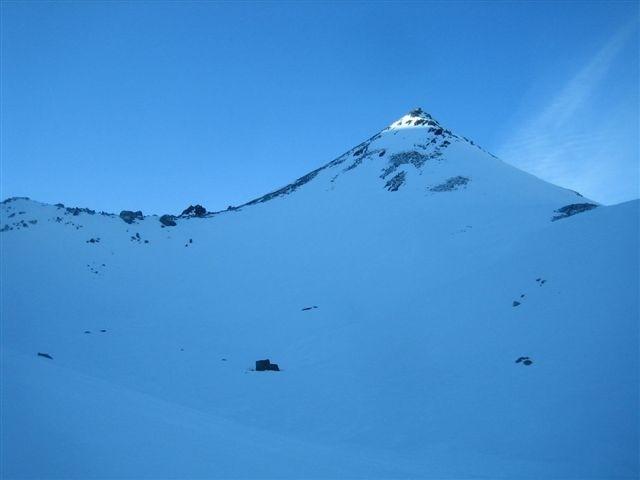 Le sommet depuis le glacier de Proz