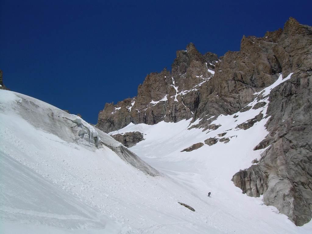 Le glacier de Sialouze à skis