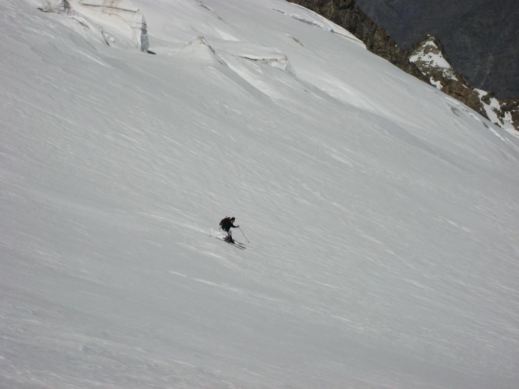 Discesa sul Glacier du Tabouchet