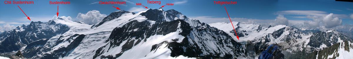 Panorama dal Giglistock