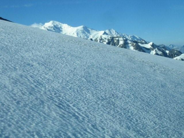 Le Mont-Blanc en arrivant à la Terrasse
