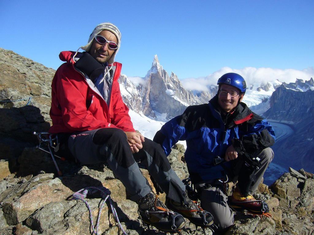 micka et thierry sommet cerro Solo