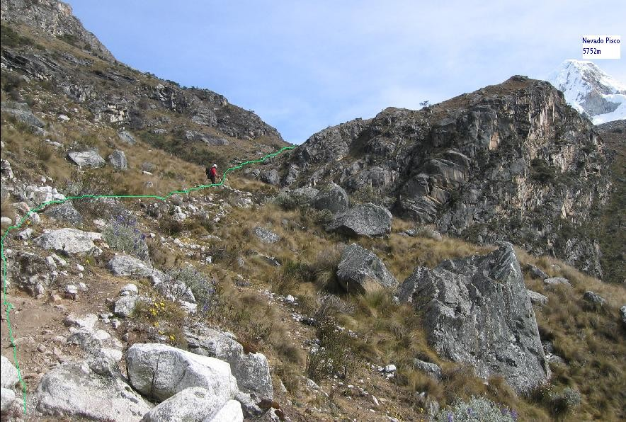 Montée vers CB- Pisco (4400m)