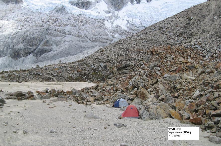 Campo morena (4900m)- Nevado Pisco
