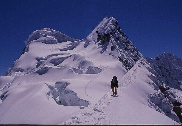 Vallunaraju - parcours glaciaire