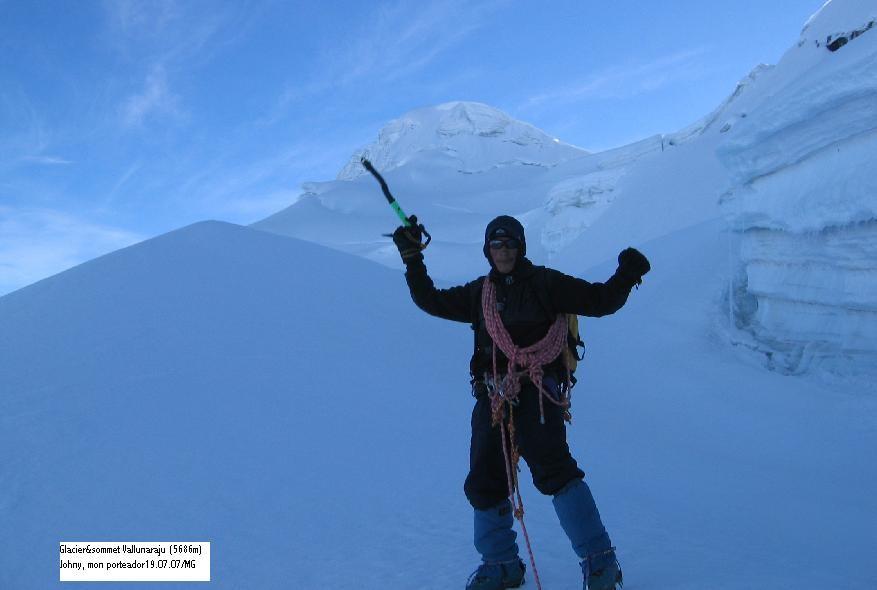 Glacier&sommet Vallunaraju