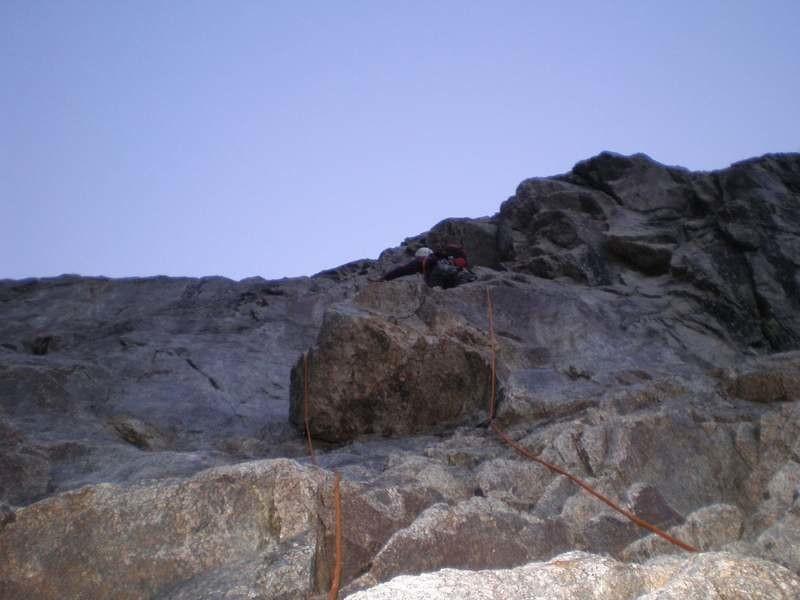 Arête des Monts Rouges à l'aiguille de Triolet : attaque