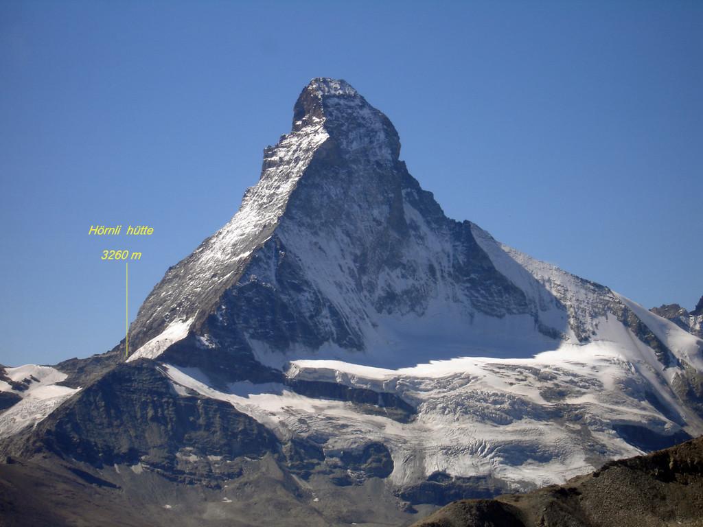 Il Matterhorn 4477 m versante Nord, visto dal Wisshorn 2936 m.