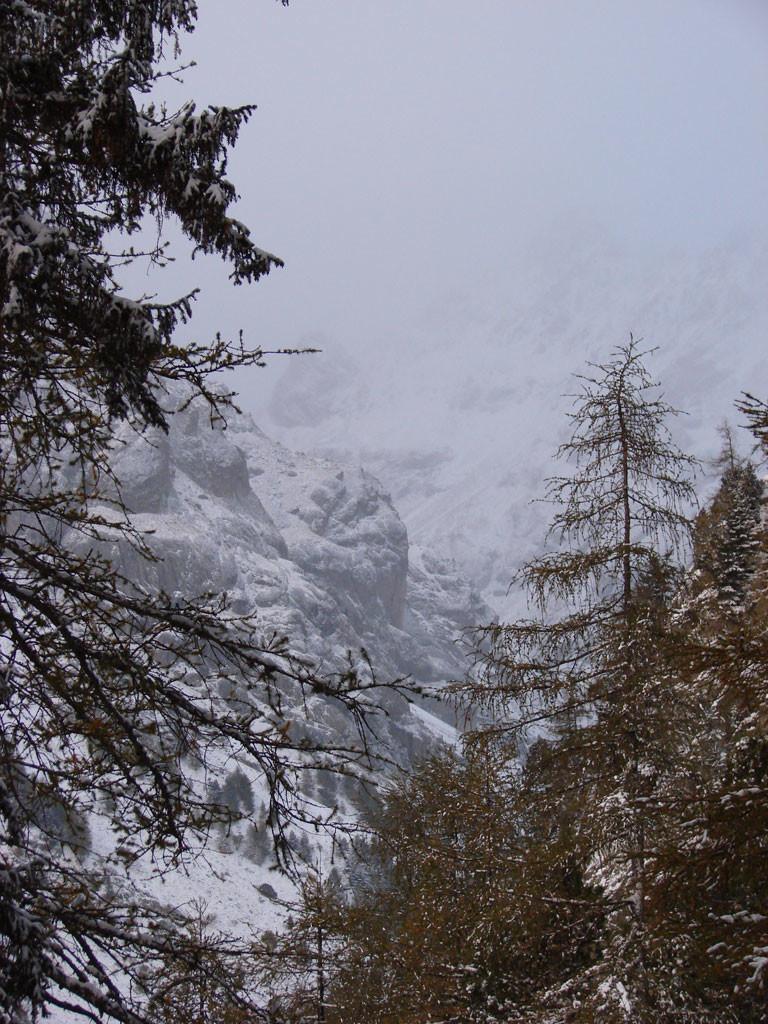 Le Castellaras sous la neige