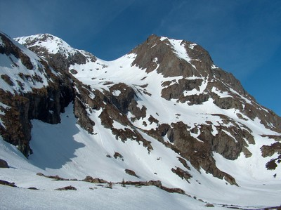 Le Taillefer, Rocher Culasson et le versant NE