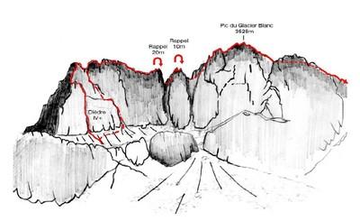 Pic du Glacier Blanc, arête S