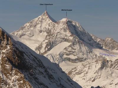 Ober Gabelhorn par la Wellenkuppe