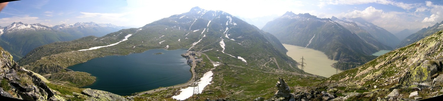 Panorama Grimselpass sud