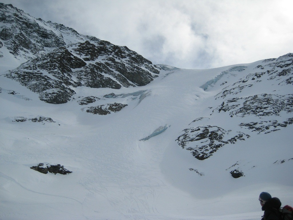 Partie inférieure du glacier de Vouasson, bien enneigée