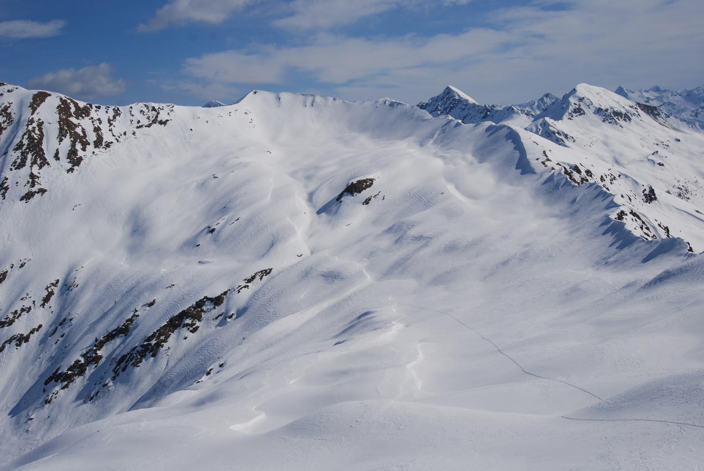 La Cima di Lemma 2348 m versante SW (Val di Lemma).