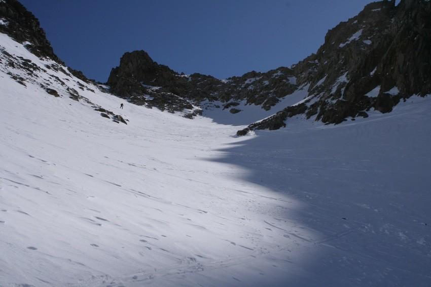 Col d'Arguille : sortie du glacier (N)