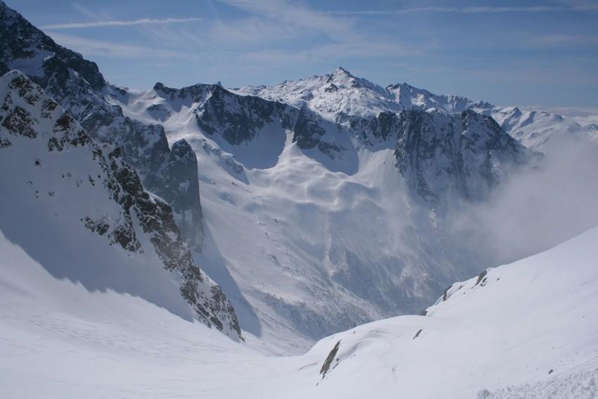 Plagne Vaumard, vue vers le massif des Sept Laux