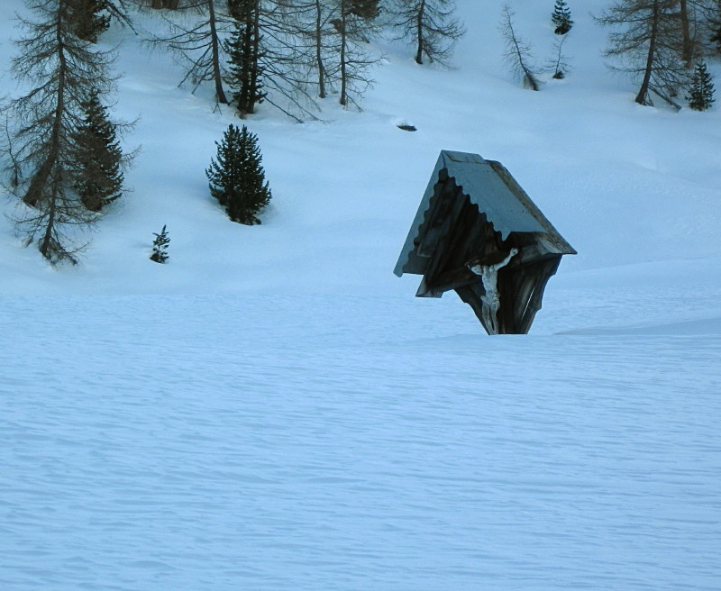 Neve alta all'Alpe Boron