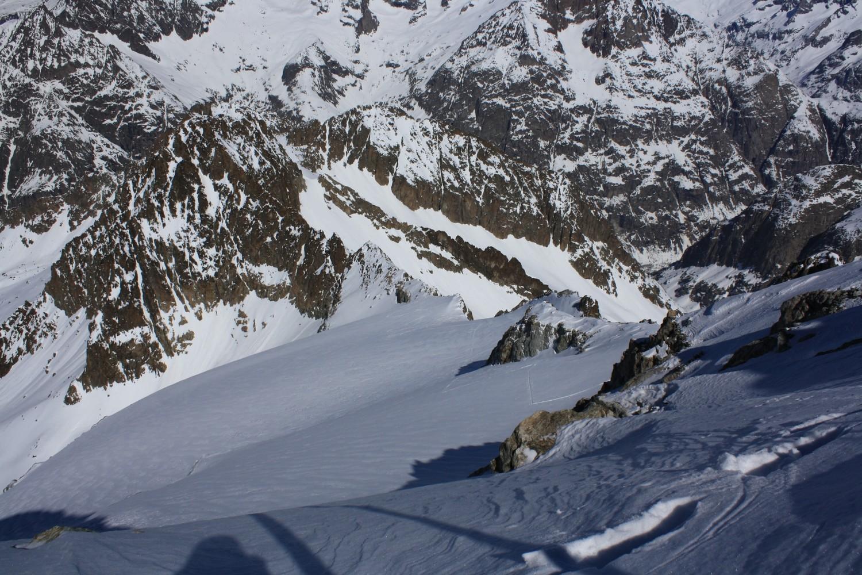 La partie supérieure du glacier des Fétoules