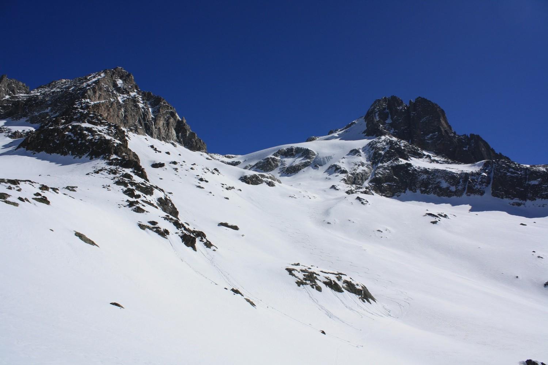 La Tête et le glacier des Fétoules