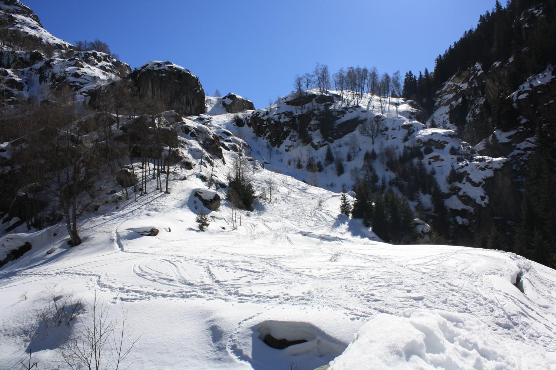 L'entrée du vallon de la Lavey