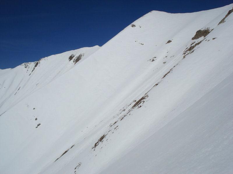 Dans la face SSW de la Point 2662 m
